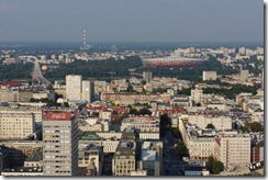 View from 30th floor of the Palace of Culture and Science, Warsaw