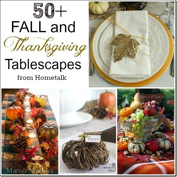 CONFESSIONS OF A PLATE ADDICT 50+ Thanksgiving Tablescapes
