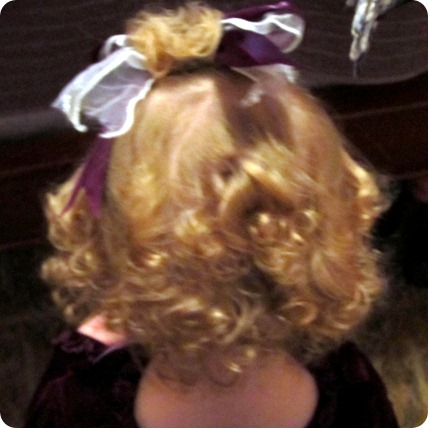 Elaine's first curls