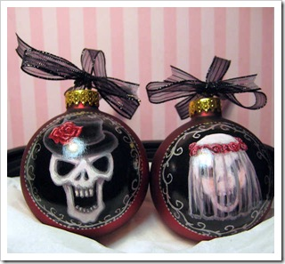 Wedding Skull Ornament Set 2009