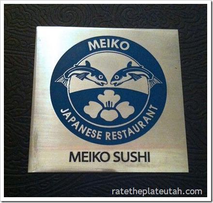 Meiko Sushi Menu