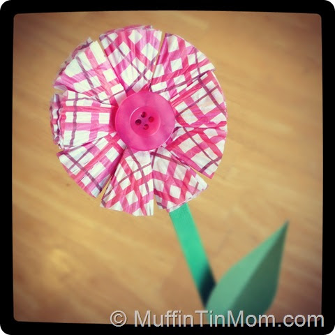 Be Brave, Keep Going: Folded Cupcake Liner Flower