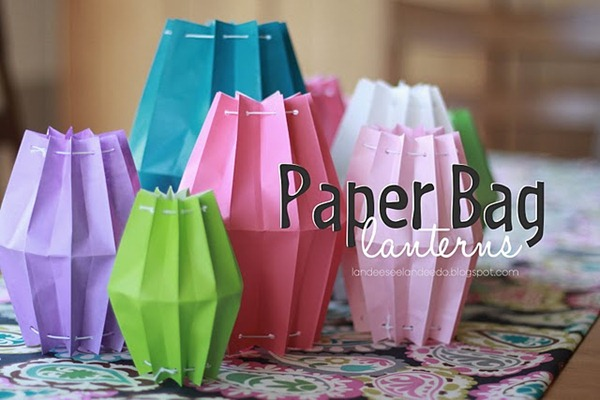paper bag lanterns tutorial