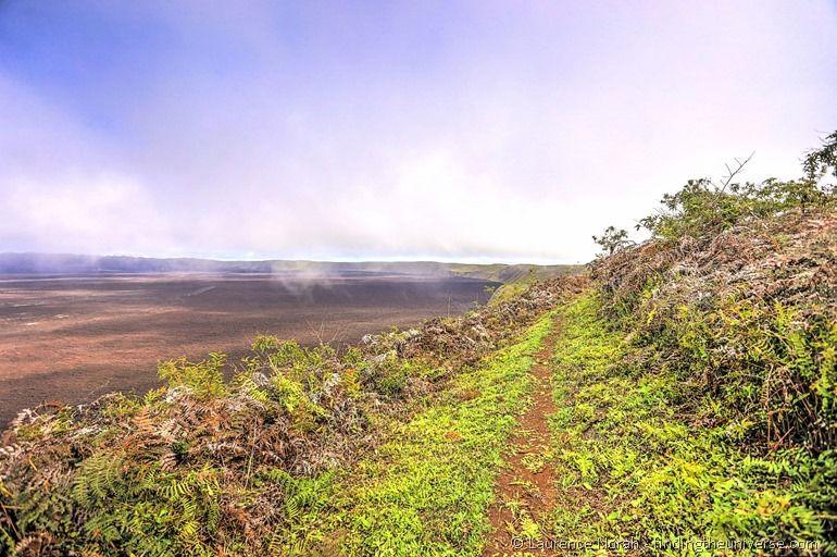 Wanderung am Kalderarand des Sierra Negra Vulkans, Galapagos