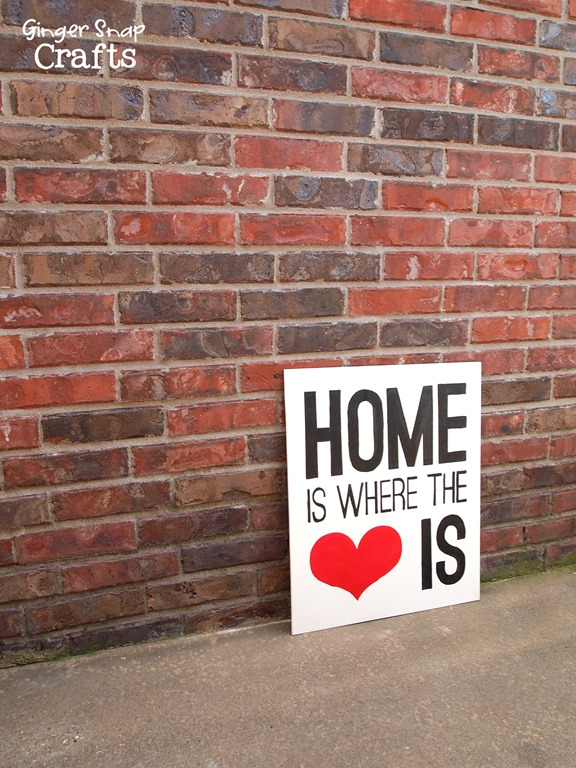 DIY sign with stenciling