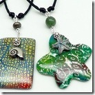 Batik and Shimmer Pendants