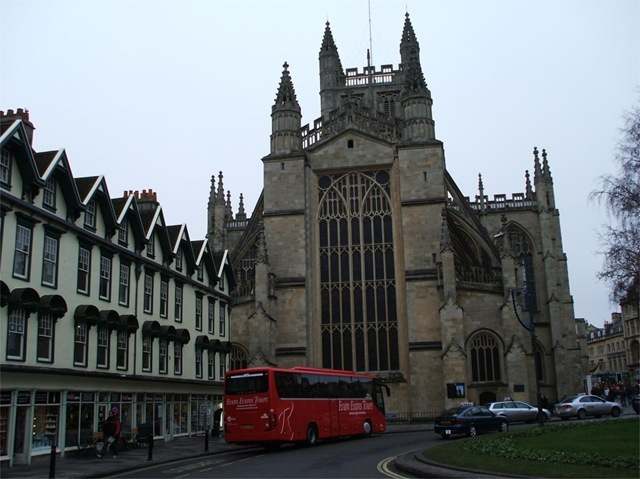 Behind Bath Abbey