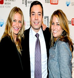 Cameron Diaz, Jimmy Fallon and wife Nancy Juvoven