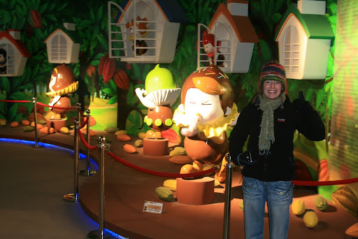 Lynette inside the World of Chocolate!