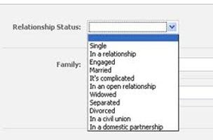 relacion en facebook