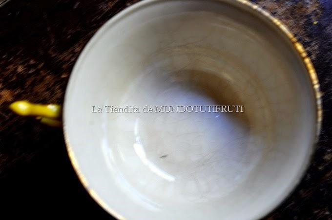juego de cafè amarillo detalle craquelé