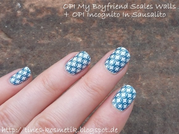OPI My Boyfriend Scales Walls Stamping 3