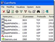 Sapere quali programmi del PC stanno usando le porte TCP e UDP - CurrPorts