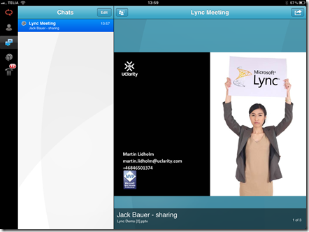 Lync ipad