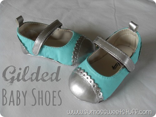 Gilded Baby Shoes - Sumo's Sweet Stuff