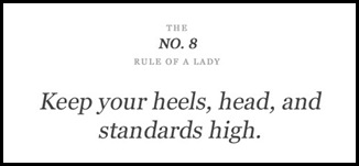 nº8 rule of a lady