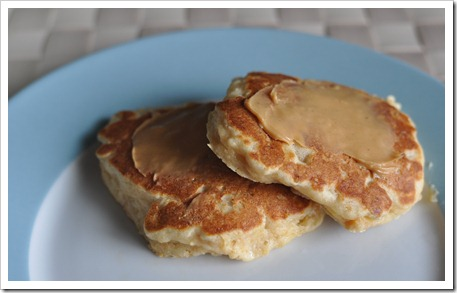 Peanut Butter Banana Yogurt Pancakes