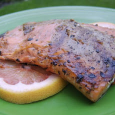 Grilled Balsamic and Grapefruit Glazed Salmon