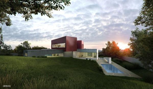 Arquitectura contempor nea casa c abiboo madrid arquitexs - Casas modernas madrid ...
