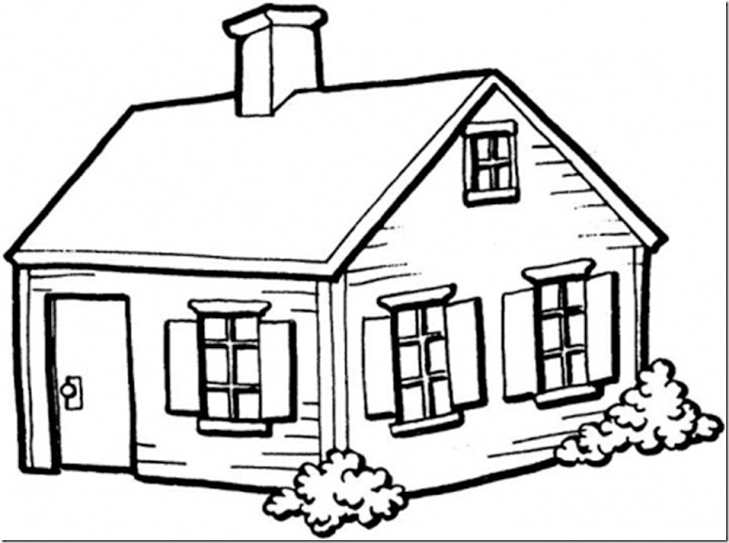 small-house-in-the-village-coloring-page