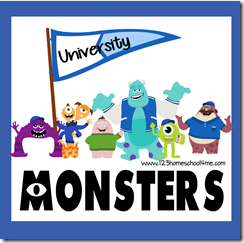 University Monsters Worksheets (Toddler, Preschool, Kindergarten, 1st, and 2nd Grade)