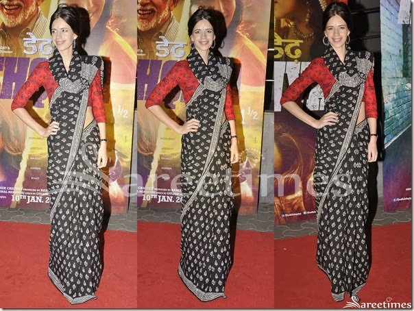 Kalki_Koechlin_Black_Saree