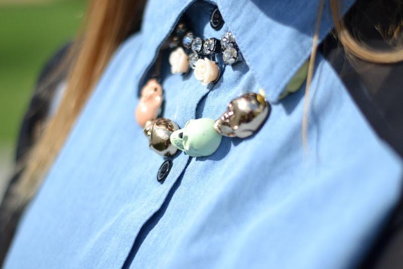 Skull, H&M necklace, Topshop necklace, Topshop, H&M