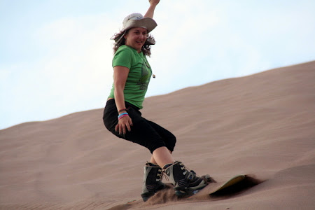 Iunia Pasca: Sandboarding in Chile