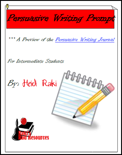 Persuasive writing prompt - free download from Raki's Rad Resources.