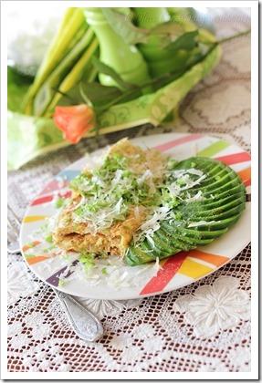 Przy dużym stole: Zdrowszy omlet – z otrębami i zieleniną