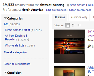 abstract paintings ebay