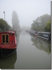 Stoke Bruerne in the mist