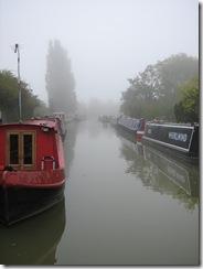 Stoke Bruerne in the mist