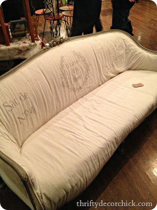 shabby vintage sofa