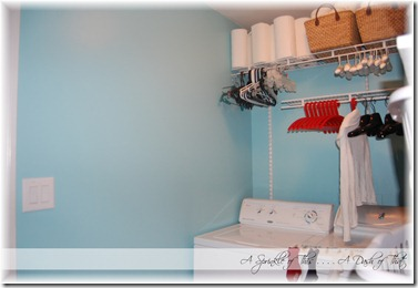 Laundry Room Hanging Wall and Blank Wall After {A Sprinkle of This . . . . A Dash of That}
