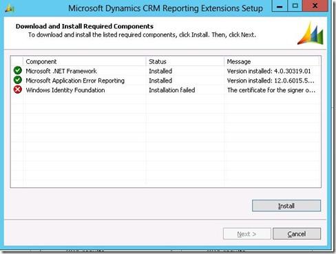 error Win 2012 server