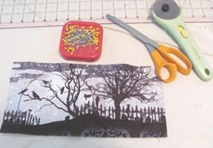 Canvas Halloween fabric panel5