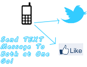 send text messages to twitter and facebook