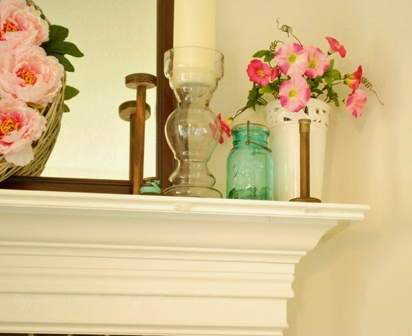 Spring mantle Right corner mantel molding