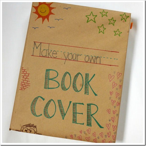 Book Covers For School : Abernathy crafts old school book covers tutorial