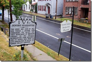 Stonewall Jackson Headquarters Museum and Marker on N. Braddock Street