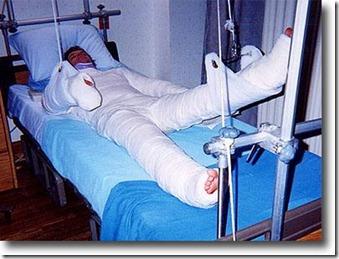 bandaged man