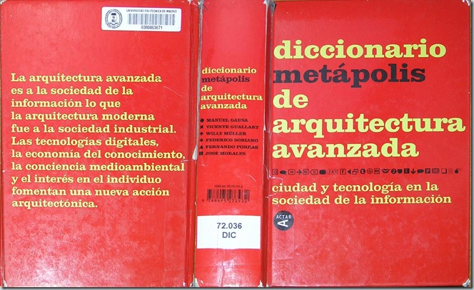DICCIONARIO METÁPOLIS DE ARQUITECTURA AVANZADA