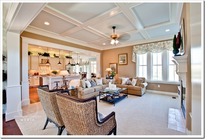family room-Decorating a Dream Home - www.sandandsisal.com