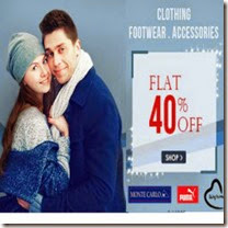 Buy Clothing, Footwear & Accessories upto 70% off + 40% off or 60% off + 5% off