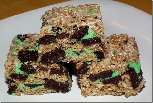 Mint Oreo Cocoa Rice Krispies 1-5-12