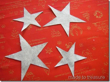 fusible applique star