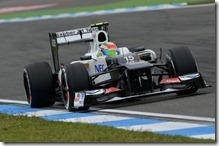 Sergio Perez(Sauber) nelle prove del gran premio di Germania 2012