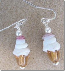Earrings 8.23.11 vanilla ice cream cones