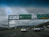 On the freeway to San Francisco